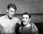 14/01/1953<br /> 01/14/1953<br /> 14 January 1953<br /> Corinthians Boxing Club, Dublin. Left is Bill Reid, Heavyweight.