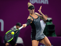 February 11, 2019 - Doha, Spain - Polona Hercog of Slovenia in action during the final qualifications round of the 2019 Qatar Total Open WTA Premier tennis tournament (Credit Image: © AFP7 via ZUMA Wire)