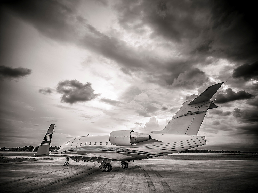 Bombardier Challenger 605, photographed on the ramp at Opa-locka Executive Airport, near Miami.  Commissioned as advertising for Phillips 66 Aviation Fuels.<br /> <br /> Created by aviation photographer John Slemp of Aerographs Aviation Photography. Clients include Goodyear Aviation Tires, Phillips 66 Aviation Fuels, Smithsonian Air & Space magazine, and The Lindbergh Foundation.  Specialising in high end commercial aviation photography and the supply of aviation stock photography for advertising, corporate, and editorial use.