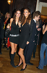Left to right, sisters MARINA HANBURY and ROSE HANBURY at a party to celebrate the publication of Andrew Robert's new book 'Waterloo: Napoleon's Last Gamble' and the launch of the paperback version of Leonie Fried's book 'Catherine de Medici' held at the English-Speaking Union, Dartmouth House, 37 Charles Street, London W1 on 8th February 2005.<br /><br />NON EXCLUSIVE - WORLD RIGHTS