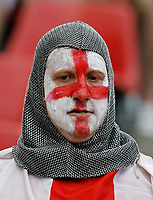Photo: Glyn Thomas.<br />Sweden v England. FIFA World Cup 2006. 20/06/2006.<br /> An England fan ready for the game.