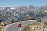 Motorcycles on Beartooth Highway Wyoming
