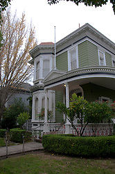 California: Napa City, exterior  during B&B Holiday Tour at McClelland Priest house.  Photo copyright Lee Foster.  Photo # canapa106903