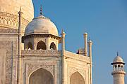 The Taj Mahal mausoleum western view detail, Uttar Pradesh, India