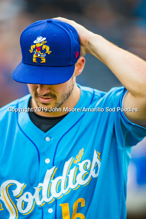 Amarillo Sod Poodles pitcher Jacob Nix (16) against the Tulsa Drillers during the Texas League Championship on Wednesday, Sept. 11, 2019, at HODGETOWN in Amarillo, Texas. [Photo by John Moore/Amarillo Sod Poodles]