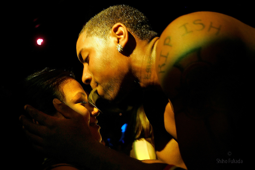 Male stripper Wascar performs in New York.