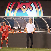 MEADOWLANDS, NEW JERSEY- August 7:  Julen Lopetegui, head coach of Real Madrid, on the sideline during the Real Madrid vs AS Roma International Champions Cup match at MetLife Stadium on August 7, 2018 in Meadowlands, New Jersey. (Photo by Tim Clayton/Corbis via Getty Images)