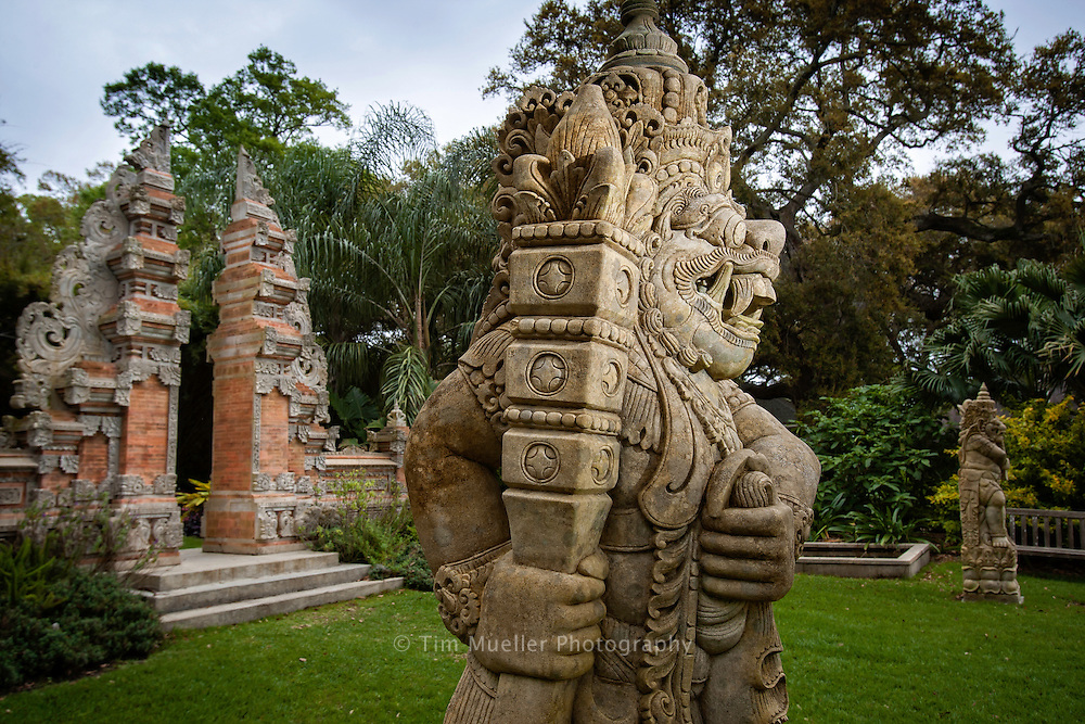 The Balinese Gateway at Rip Van Winkle Gardens is part of the twenty five-acre, semi-tropical paradise and site of the twenty-two room Southern mansion and former home of Joseph Jefferson. The Joseph Jefferson mansion was built in 1870 and is listed on the National Register of Historic Places.