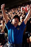 Photo: Alan Crowhurst.<br />Southampton v Cardiff City. Coca Cola Championship. 01/04/2006.A Cardiff fan celebrates.