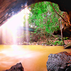 Panorama Photo Serenity falls, Waterfall at Buderim State Forest, Sunshine Coast, Queensland Australia, by jaydon cabe