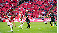 Dusan Tadic of Ajax scored 1-0  during eredivisie round 02 between Ajax and RKC at Johan Cruyff Arena on September 20, 2020 in Amsterdam, Netherlands