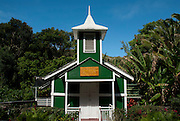 Ierusalema Hou Church in Halawa Valley on the island of Molokai, Hawaii.