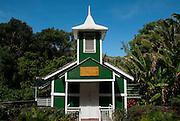 Ierusalema Hou Church in Halawa Valley on the island of Molokai, Hawaii.