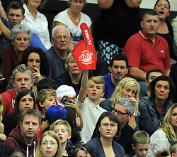 Bristol Flyers fan - Photo mandatory by-line: Dougie Allward/JMP - Mobile: 07966 386802 - 18/10/2014 - SPORT - Basketball - Bristol - SGS Wise Campus - Bristol Flyers v Durham Wildcats - British Basketball League