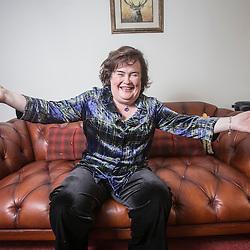 Susan Boyle at home