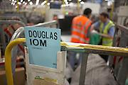 Destination trolleys inside the Royal Mail's DIRFT logistics park in Daventry, Northamptonshire England.