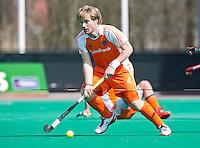 ROTTERDAM - HOCKEY -  Klaas Vermeulen  tijdens de oefenwedstrijd tussen de mannen van Nederland en Engeland (2-1) . FOTO KOEN SUYK