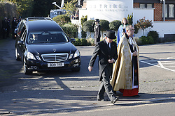 © Licensed to London News Pictures. 04/11/2020. Shoreham, UK. The funeral cortege carrying the coffin of police Sgt Matt Ratana leaves a funeral directors in Shoreham, West Sussex after a service was held. Family members were joined by police colleagues including Metropolitan Police Commissioner Cressida Dick. A tradional Maori Haka was performed during the service. Sgt Ratana died from a gunshot wound to the chest in the early hours of September 25 at Croydon custody centre. Photo credit: Peter Macdiarmid/LNP