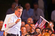13 FEBRUARY 2012 - MESA, AZ:   MITT ROMNEY campaigns for the Republican nomination for President in Mesa, AZ. Several thousand people crowded into the Mesa Amphitheatre in Mesa Monday night to hear Romney speak. Romney, a Mormon, is expected to win in Arizona, which has a large Mormon population. Arizona's Republican primary in February 28.    PHOTO BY JACK KURTZ