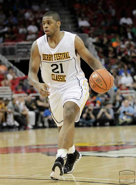 22 April 2011: Chane Behanan, committed to Louisville,  plays in the Derby Classic in Louisville, KY.