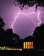 lightning over uva rotunda