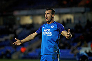 Peterborough United defender Steven Taylor (27) appeals an offside decision during the EFL Sky Bet League 1 match between Peterborough United and Southend United at London Road, Peterborough, England on 3 February 2018. Picture by Nigel Cole.