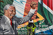 A mural wall pictured in Albert Street, West Belfast on Thursday, April 22, 2021, commemorates Nelson Mandela. Mandela's relationship with Britain and its anti-apartheid movement is well-known. His connection with Ireland was no less important. He visited both Britain and Ireland in 1990 and addressed the Irish parliament, Dáil Eireann, in July of that year. His future Minister of Water Affairs and Forestry, Kader Asmal, worked in the law department of Trinity College Dublin in the 1980s, and, like Mandela, supported the Northern Irish peace process.  (Photo/ Vudi Xhymshiti)