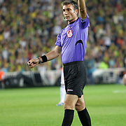 Referee's Ozgur Yankaya during their Turkish Superleague soccer derby match Fenerbahce between Besiktas at Sukru Saracaoglu stadium in Istanbul Turkey on Sunday 07 October 2012. Photo by TURKPIX