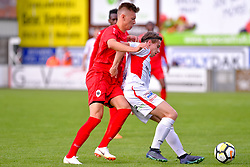 June 22, 2018 - Hoogstraten, BELGIUM - Antwerp's Yehor Nazaryna fight for the ball during a friendly game, the first of the new season 2018-2019 for Antwerp, between Hoogstraten and Antwerp, in Hoogstraten, Friday 22 June 2018. BELGA PHOTO LUC CLAESSEN (Credit Image: © Luc Claessen/Belga via ZUMA Press)