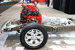 12 February 2015:  A Nissan chassis and drivetrain.<br /> <br /> First staged in 1901, the Chicago Auto Show is the largest auto show in North America and has been held more times than any other auto exposition on the continent. The 2015 show marks the 107th edition of the Chicago Auto Show. It has been  presented by the Chicago Automobile Trade Association (CATA) since 1935.  It is held at McCormick Place, Chicago Illinois