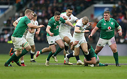 England's Mike Brown breaks during the NatWest 6 Nations match at Twickenham Stadium, London.