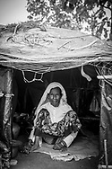 Rohingya woman in shelter at Jamtoli refugee camp, Bangladesh (October 26, 2017)