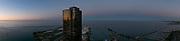 Panorama of Lake Michigan at Navy Pier