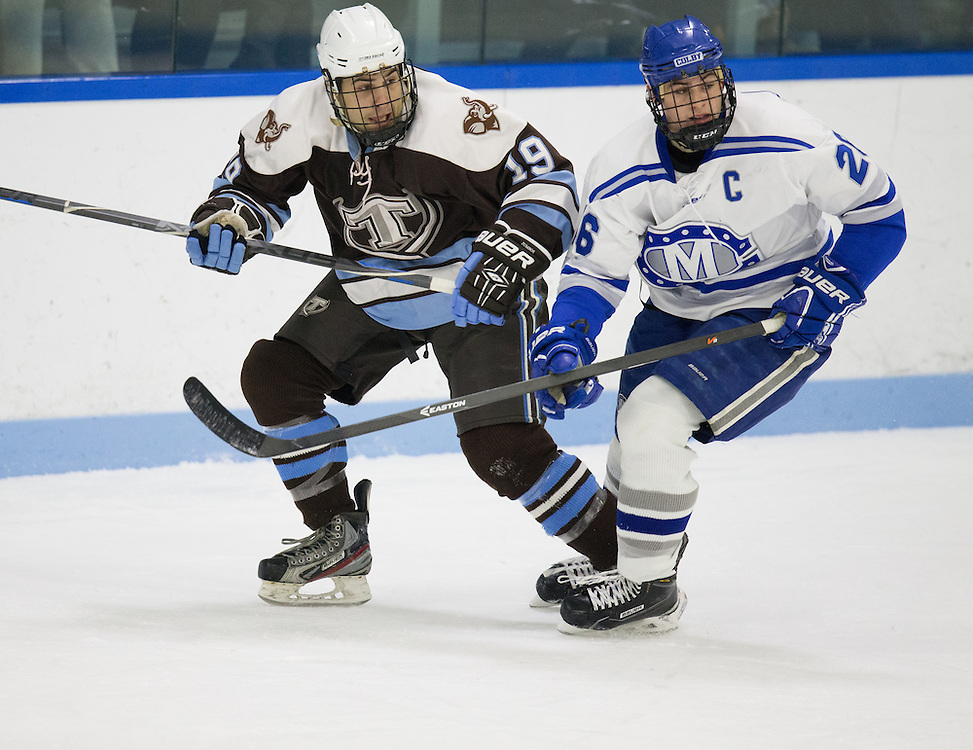 Robert McCormick, of Colby College, in a NCAA Division III hockey game against Tufts University on February 20, 2015 in Waterville, ME. (Dustin Satloff/Colby College Athletics)