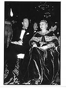 Babara Johnson and Amyn Aga Khan New York 1991© Copyright Photograph by Dafydd Jones 66 Stockwell Park Rd. London SW9 0DA Tel 020 7733 0108 www.dafjones.com