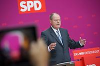 DEU, Deutschland, Germany, Berlin, 15.08.2013:<br />SPD-Kanzlerkandidat Peer Steinbrück während einer Pressekonferenz im Willy-Brandt-Haus zur Energiepolitik.