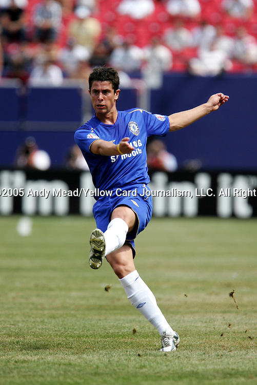 31 July 2005: Asier del Horno. Chelsea FC of England and AC Milan of Spain tied 1-1 at Giants Stadium in East Rutherford, New Jersey in an international friendly soccer match as part of AEG's 2005 World Series of Football. .