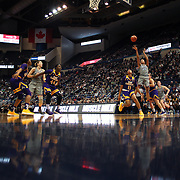 HARTFORD, CONNECTICUT- JANUARY 4: Napheesa Collier #24 of the Connecticut Huskies shoots for two during the UConn Huskies Vs East Carolina Pirates, NCAA Women's Basketball game on January 4th, 2017 at the XL Center, Hartford, Connecticut. (Photo by Tim Clayton/Corbis via Getty Images)