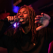WASHINGTON, DC - January 16, 2020 - Mavi,, a rapper from Charlotte, NC currently enrolled at Howard University, performs at Songbyrd Music House in Washington, D.C.  (Photo by Kyle Gustafson / For The Washington Post)