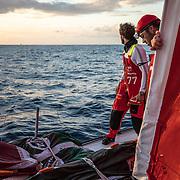 Leg 02, Lisbon to Cape Town, day 05, on board MAPFRE. Photo by Ugo Fonolla/Volvo Ocean Race. 09 November, 2017