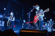 Tegan and Sara perform at Terminal 5 in New York City on October 05, 2008.