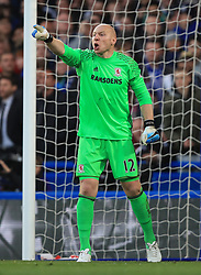 """Middlesbrough goalkeeper Brad Guzan during the Premier League match at Stamford Bridge, London. PRESS ASSOCIATION Photo. Picture date: Monday May 8, 2017. See PA story SOCCER Chelsea. Photo credit should read: Mike Egerton/PA Wire. RESTRICTIONS: EDITORIAL USE ONLY No use with unauthorised audio, video, data, fixture lists, club/league logos or """"live"""" services. Online in-match use limited to 75 images, no video emulation. No use in betting, games or single club/league/player publications."""