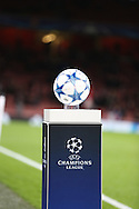champions league ball during the Champions League match between Arsenal and Dinamo Zagreb at the Emirates Stadium, London, England on 24 November 2015. Photo by Matthew Redman.