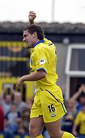 Picture: Henry Browne<br />Date: 19/07/2003<br />Burton Albion v Birmingham City Pre season friendly<br />David Dunn celebrates scoring City's second goal
