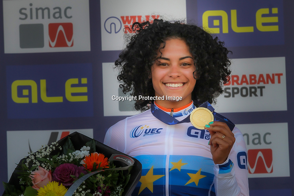 07-11-2020: Wielrennen: EK Veldrijden: Rosmalen<br /> Ceylin del Carmen Alvarado takes the European cyclocross titel. 2nd Annemarie Worst and 3th Lucinda Brand