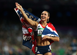 File photo dated 04-08-2012 of Great Britain's Jessica Ennis waves to the crowd after victory in the Heptathlon