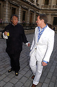 David Tang and Tommy Hilfiger, Around the World in One night, gala to raise money for the Royal Academy,   Royal Academy. 21 June 2004. ONE TIME USE ONLY - DO NOT ARCHIVE  © Copyright Photograph by Dafydd Jones 66 Stockwell Park Rd. London SW9 0DA Tel 020 7733 0108 www.dafjones.com