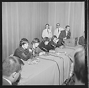 Y-650822A-06 Beatles at Memorial Coliseum press conference. August 22, 1965