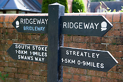 Public footpath sign post,