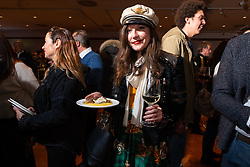 20th Century Racing's Spirit of Sturgis race promoter Brittney Olsen at the Palazzo della Gran Guardia Motor Bike Expo (MBE) Gala in Verona's Piazza Bra. Italy. Thursday, January 16, 2020. Photography ©2020 Michael Lichter.
